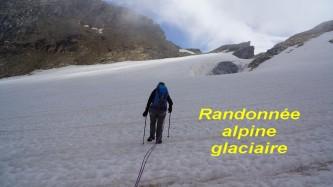 Randonnée alpine glaciaire